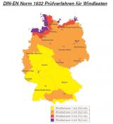 Windlastzonen in Deutschland